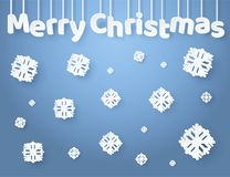 Merry Christmas Inscription Made of Paper Letters stock illustration