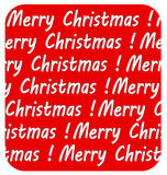Merry Christmas inscription, on red background Royalty Free Stock Images