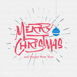 Merry christmas insignia  and labels for any use Royalty Free Stock Photos