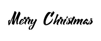 Merry christmas insignia and labels for any use. Merry christmas handwritten icons for your design Stock Photography