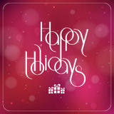 Merry Christmas interlaced lettering with bokeh Stock Photos