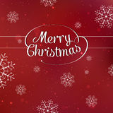 Merry Christmas interlaced lettering with Stock Photos
