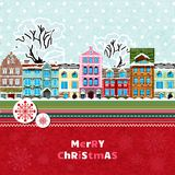 Merry christmas invitation card Royalty Free Stock Images