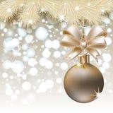 Merry Christmas invitation card Stock Photography