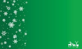 Merry christmas, invitation, postcard, background, winter, decoration. Merry christmas, falling snow on green background invitation, postcard, winter, decoration Royalty Free Stock Photography