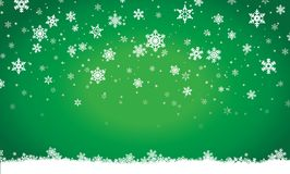 Merry christmas, invitation, postcard, background, winter, decoration. Merry christmas,falling snow on green background invitation, postcard, winter, decoration Stock Photography