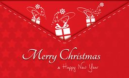 Merry christmas, invitation, postcard Royalty Free Stock Photography