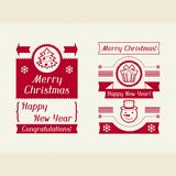 Merry Christmas invitation typographic design Stock Images