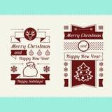 Merry Christmas invitation typographic design Royalty Free Stock Photos