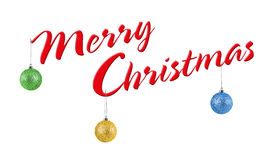 Merry Christmas, isolated on white background Stock Photography