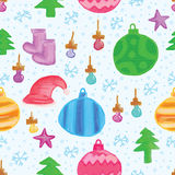 Merry Christmas items seamless pattern Royalty Free Stock Image