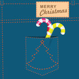 Merry Christmas jeans Stock Images