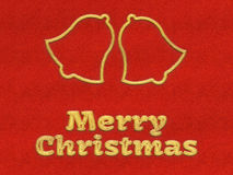 Merry Christmas jingle bells background Royalty Free Stock Photo