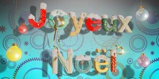 Merry Christmas - Joyeux Noël blue Royalty Free Stock Photos
