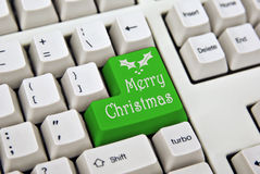 Merry christmas keyboard Royalty Free Stock Images