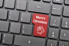Merry christmas on keyboard Royalty Free Stock Photos