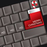 Merry Christmas keyboard Stock Photos