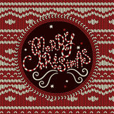 Merry Christmas knitted background Stock Photo