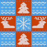 Merry Christmas knitted card Royalty Free Stock Photos