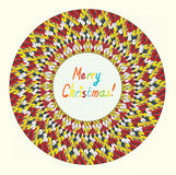 Merry Christmas knitting greeting card Royalty Free Stock Images
