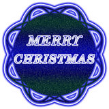 Merry Christmas label royalty free illustration