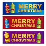 Merry christmas labels Royalty Free Stock Photography