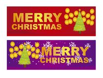 Merry christmas labels Royalty Free Stock Images