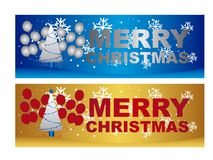 Merry christmas labels Stock Photography