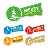 Merry Christmas labels. Set of colorful Merry Christmas labels. Vector ilustration Royalty Free Stock Image