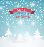 Merry Christmas Landscape Stock Photography