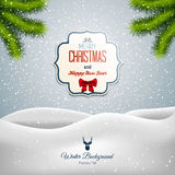 Merry Christmas Landscape Royalty Free Stock Images