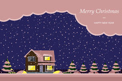 Merry christmas landscape Stock Images