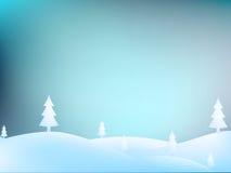 Merry Christmas Landscape. + EPS10 Royalty Free Stock Photo