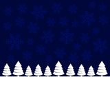 Merry Christmas Landscape Forest Background. Royalty Free Stock Photo