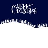 Merry Christmas Landscape Forest Background. Stock Photography