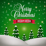 Merry Christmas Landscape Royalty Free Stock Photo