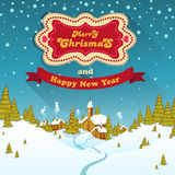 Merry Christmas Landscape Royalty Free Stock Photography