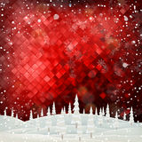 Merry Christmas Landscape royalty free illustration