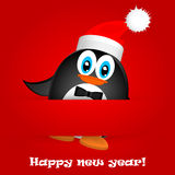 Merry Christmas Landscape. Vector  Happy New Year Stock Photography