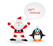 Merry Christmas Landscape. Vector  Happy New Year Stock Images
