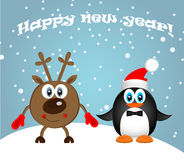 Merry Christmas Landscape. Vector  Happy New Year Stock Image