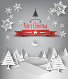 Merry Christmas Landscape. Royalty Free Stock Image