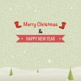 Merry Christmas Landscape. Vector illustration Stock Image