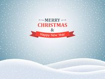 Merry Christmas Landscape Royalty Free Stock Image