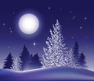 Merry Christmas Landscape. Vector Royalty Free Stock Image