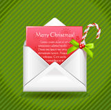 Merry christmas letter Royalty Free Stock Photo