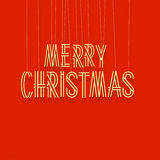 Merry Christmas lettering Royalty Free Stock Photography