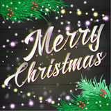 Merry Christmas lettering Background Stock Images