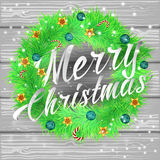 Merry Christmas lettering Background Royalty Free Stock Photo