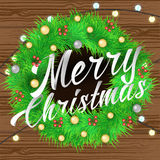 Merry Christmas lettering Background Stock Photo
